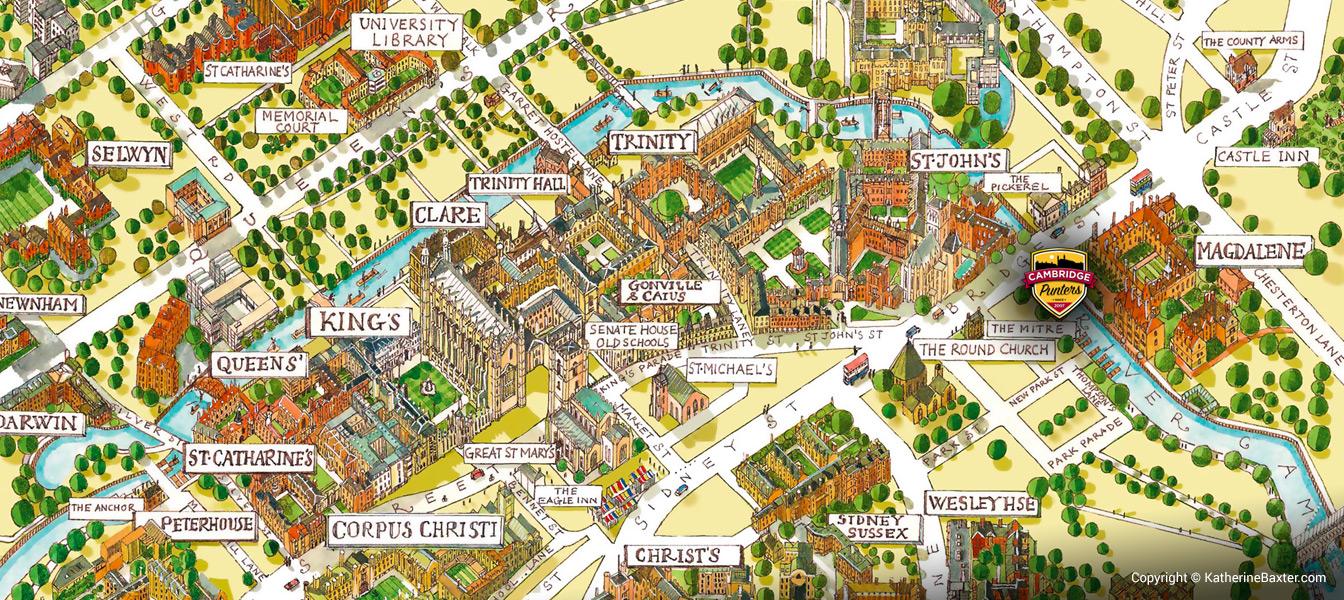 Cambridge Punters Location Map